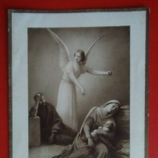 Postales: ESTAMPA RELIGIOSA ANTIGUA EL SUEÑO DE SAN JOSE. Lote 135503869