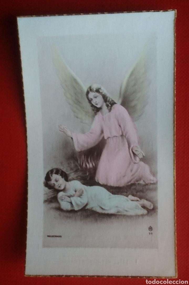 ESTAMPA RECUERDO RECORDATORIO COMUNION ANGEL 1948 (Postales - Postales Temáticas - Religiosas y Recordatorios)