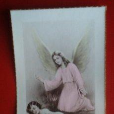 Postales: ESTAMPA RECUERDO RECORDATORIO COMUNION ANGEL 1948. Lote 135520359