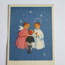 Postales: ESTAMPA RECORDATORIO COMUNION - 1955 - CORUÑA . Lote 135525390