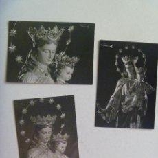 Postales: LOTE DE 3 ESTAMPAS DE MARIA AUXILIADORA. AÑOS 60 . FOTOS DE GARD.. Lote 195148590