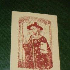 Postales: ESTAMPA. SANT JAUME APOSTOL, DE UN RETABLO ARNAU DE LA PENA S,XIV. Lote 135595042