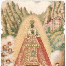 Postales: ESTAMPA RELIGIOSA: NUESTRA SEÑORA DE MONTSERRAT - DORSO EN BLANCO - (6,1X11). Lote 135733015