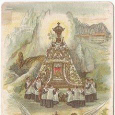 Postales: ESTAMPA RELIGIOSA: NUESTRA SEÑORA DE MONTSERRAT - DORSO EN BLANCO - (6,3X11,5). Lote 135733759