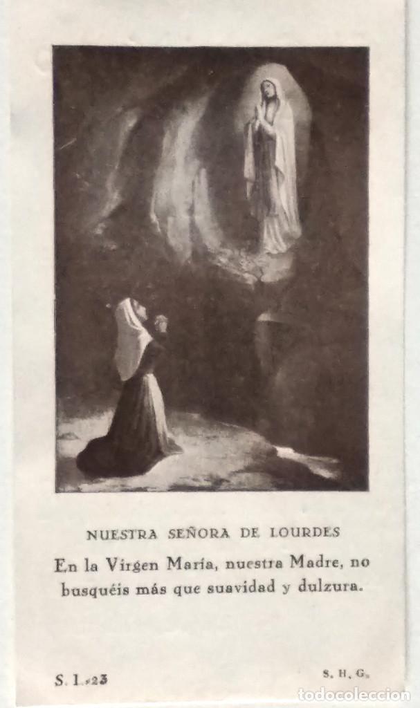 RECORDATORIO DEL CURA PÁRROCO DE SANTA MARÍA DE ALCOY A SUS FELIGRESES OFRECIENDO SUS SERVICIOS 1931 (Postales - Postales Temáticas - Religiosas y Recordatorios)