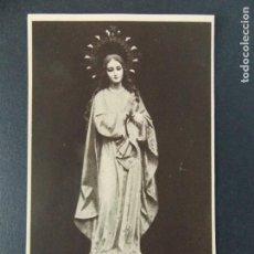Postales: ANTIGUA ESTAMPA RELIGIOSA - MARIA INMACULADA , CARMELITAS DESCALZAS , BARCELONA - ... A66. Lote 136121218