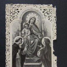 Postales: ANTIGUA ESTAMPA RELIGIOSA TROQUELADA , PUNTILLA - A IDENTIFICAR ... A80. Lote 136124414