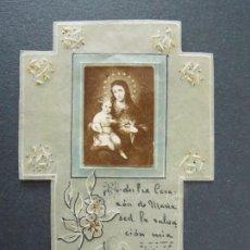 Postales: ANTIGUA ESTAMPA RELIGIOSA - FORMA CRUZ - .. A115. Lote 136181938