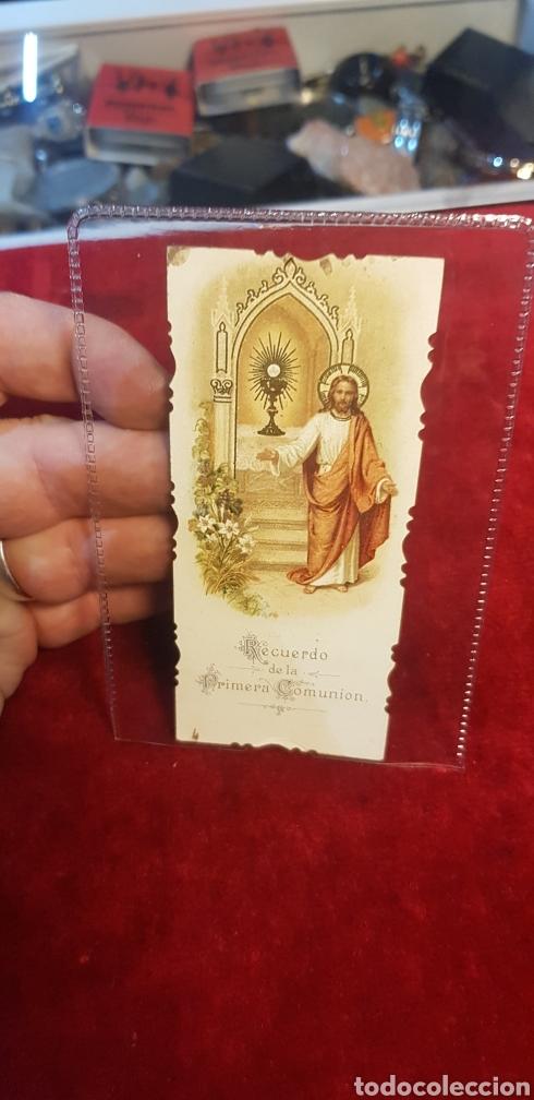 RECUERDO ESTAMPA DE LA PRIMERA COMUNIÓN 1906 (Postales - Postales Temáticas - Religiosas y Recordatorios)