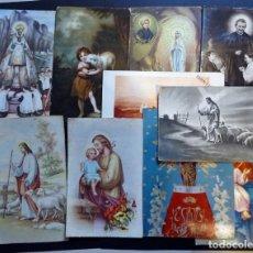 Postales: 10 POSTALES RELIGIOSAS DE DIVERSOS AÑOS. VER TODAS LAS FOTOS. Lote 136272490
