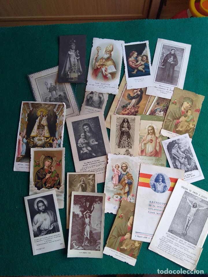 Postales: LOTE DE ESTAMPAS RELIGIOSAS Y RECORDATORIOS - Foto 2 - 135784154