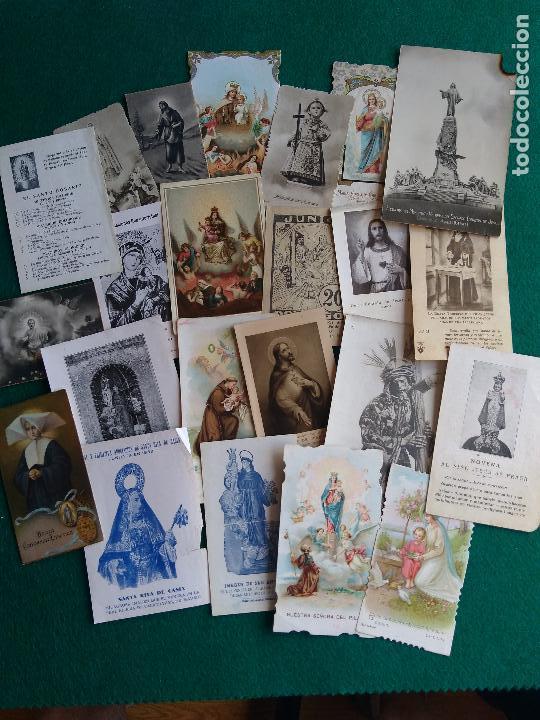 Postales: LOTE DE ESTAMPAS RELIGIOSAS Y RECORDATORIOS - Foto 5 - 135784154