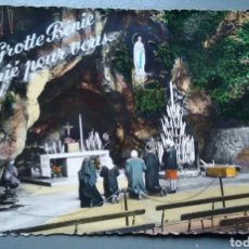 Postales: POSTAL RELIGIOSA FRANCIA LOURDES 246 LA GRUTA MILAGROSA AÑO 1961. Lote 137311281