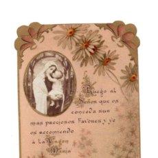 Postales: ESTAMPITA RECORDATORIO .- VIRGEN MARÍA.- FECHADO EN 1907. Lote 137356130