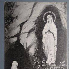 Postales: POSTAL FRANCIA LOURDES LA APARICIÓN DE LA VIRGEN ESCRITA 1928. Lote 137941558