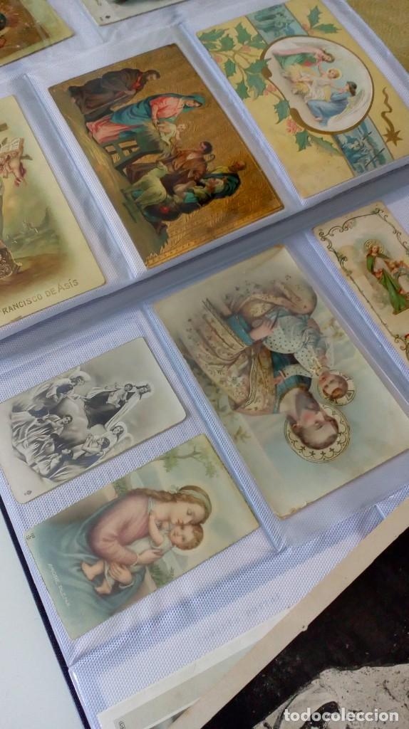Postales: Espectacular album de postales antiguas marianas de multitud de advocaciones etc - Foto 2 - 139120470