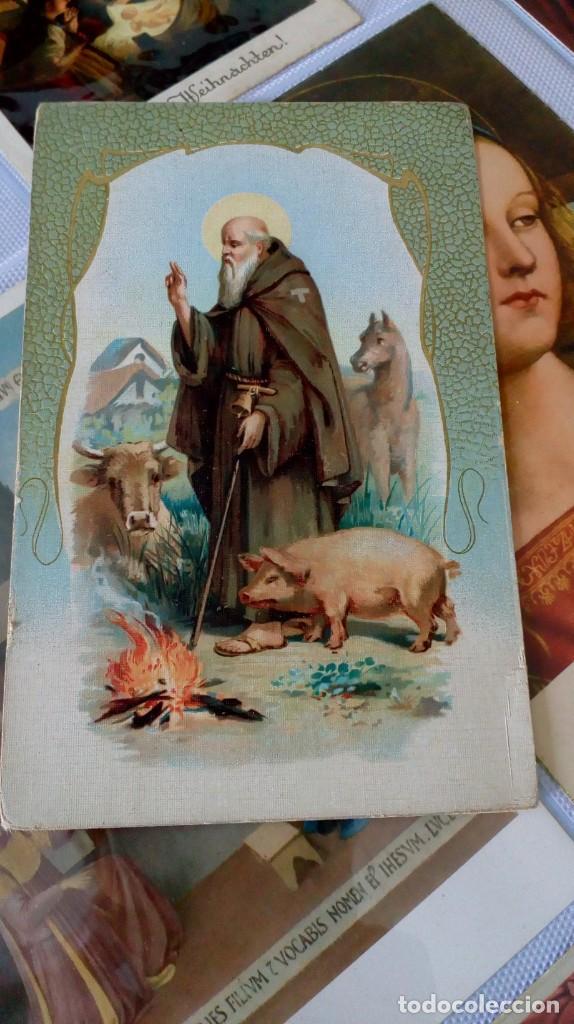 Postales: Espectacular album de postales antiguas marianas de multitud de advocaciones etc - Foto 11 - 139120470