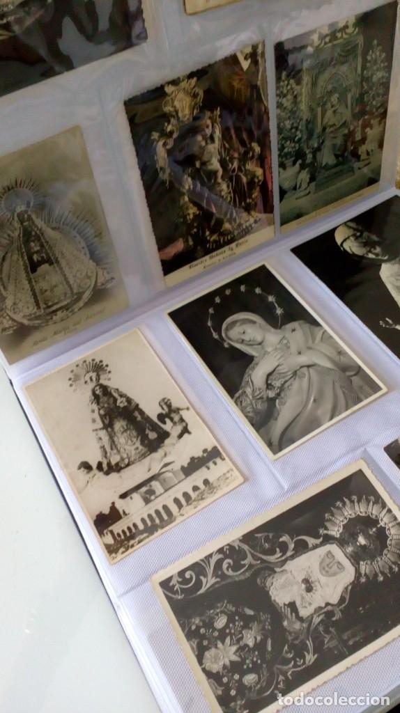 Postales: Espectacular album de postales antiguas marianas de multitud de advocaciones etc - Foto 21 - 139120470