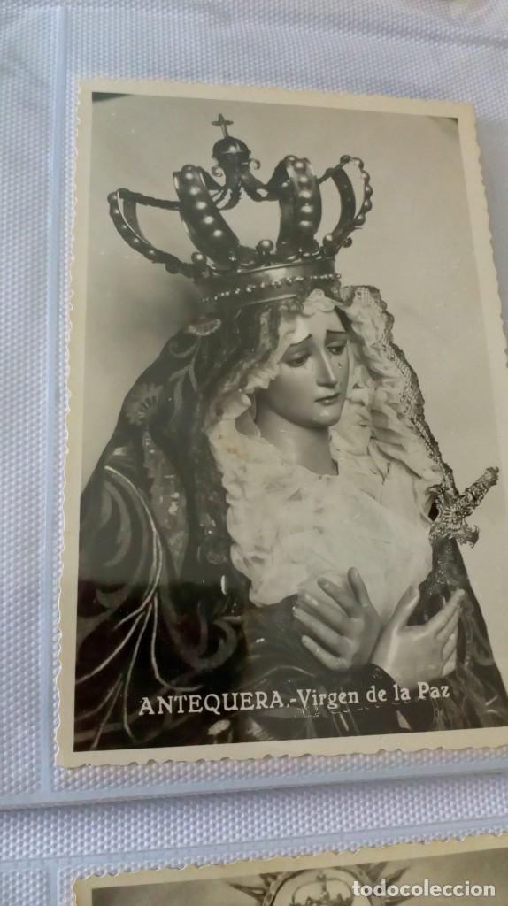 Postales: Espectacular album de postales antiguas marianas de multitud de advocaciones etc - Foto 28 - 139120470