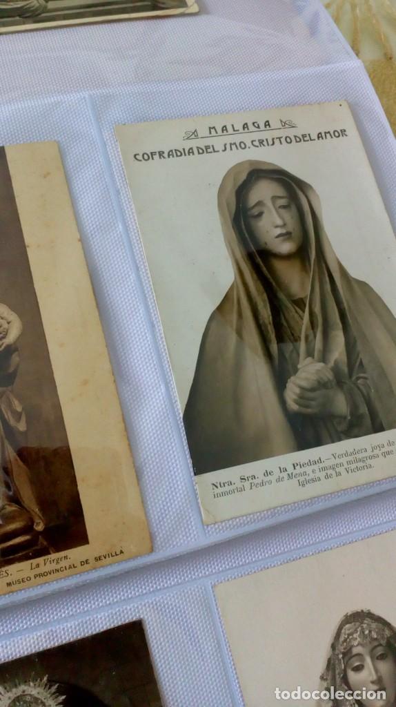 Postales: Espectacular album de postales antiguas marianas de multitud de advocaciones etc - Foto 30 - 139120470