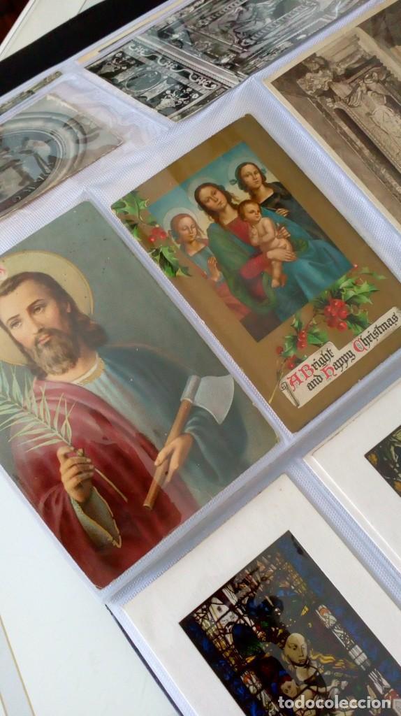 Postales: Espectacular album de postales antiguas marianas de multitud de advocaciones etc - Foto 31 - 139120470