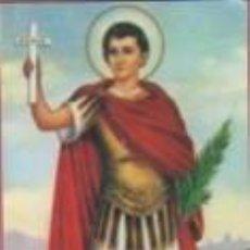 Postales: ESTAMPA RELIGIOSA DE SAN EXPEDITO ORACION DE LA LLAVE. Lote 139225354