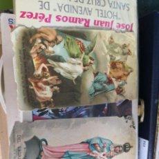 Postales: 2 ESTAMPAS , POSTAL, RECORDATORIO ANTIGUA RELIGIOSA TROQUELADA. Lote 139274694