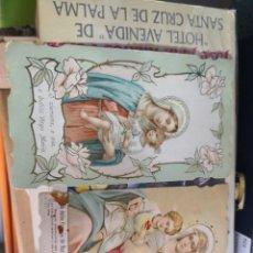 Postales: 2 ESTAMPAS , POSTAL, RECORDATORIO ANTIGUA RELIGIOSA TROQUELADA. Lote 139274974