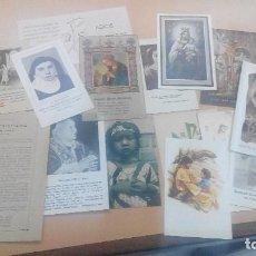 Postales: LOTE DE ESTAMPAS RELIGIOSAS VARIAS. Lote 139287026
