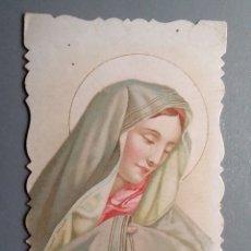 Postales: ESTAMPA RELIGIOSA ANTIGUA MATER DOLOROSA VIRGEN TROQUELADA / 6,5 X 12 CM. Lote 139292625