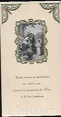 ESTAMPA AÑO 1920 RECUERDO PROFESIÓN VOTOS PERPETUOS * RELIGIOSAS HIJAS S. JOSÉ - BCN (Postales - Postales Temáticas - Religiosas y Recordatorios)