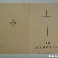 Postales: RECORDATORIO DE SEÑORA VIUDA FALLECIDA EN BARCELONA EN 1957.. Lote 139702102