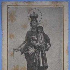 Postales: ESTAMPA RELIGIOSA VERGE DEL ROSER VIRGEN DEL ROSARIO BADALONA 1949. Lote 140259278