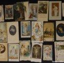 Postales: COLECIÓN DE 18 ANTIGUAS ESTAMPAS RELIGIOSAS Y RECORDATORIOS, VER FOTOGRAFÍAS . Lote 140319262