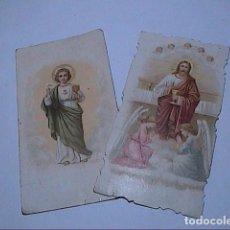 Postales: LOTE 2 POSTALES RECORDATORIOS PRIMERA MISA. 1897 Y 1899.. Lote 140505762
