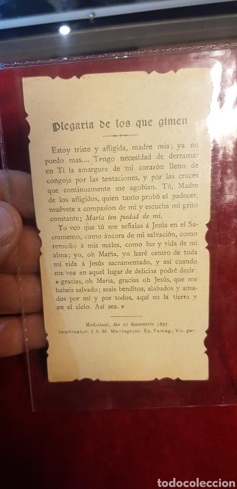 Postales: Estampa religiosa sin piedad de ti Arcángel plegaria de los que gimen 1897 - Foto 2 - 140872322