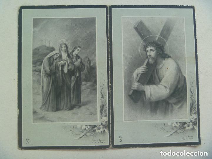 RECORDATORIO DE SEÑORA FALLECIDA EN 1954 EN MADRID (Postales - Postales Temáticas - Religiosas y Recordatorios)