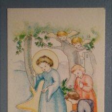 Postales: BONITA ESTAMPA RELIGIOSA ANTIGUA NIÑO JESÚS CON ANGELES. Lote 140986972