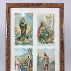 Postales: LOTE DE POSTALES, ESTAMPAS, RECORDATORIOS RELIGIOSOS. Lote 141498558