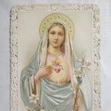Postales: ESTAMPA TROQUELADA, SAGRADO CORAZON DE MARIA, AÑOS 20. Lote 141675474