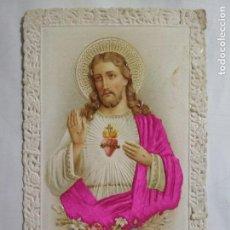 Postales: ESTAMPA TROQUELADA, SAGRADO CORAZON DE JESUS. Lote 141676474