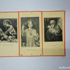 Postales: TRIPTICO EN PAPEL ESTAMPAS RELIGIOSAS. TDKP13. Lote 141935542