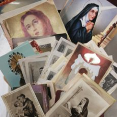 Postales: LOTE DE MAS DE 100 ESTAMPAS ANTIGUAS CON ORACION. Lote 141956397