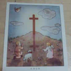 Postales: ESTAMPA RELIGIOSA 10X7 CM.. Lote 142583382