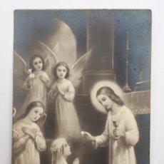 Postales: SA TANDER. ESTAMPA RECORDATORIO DE 1A. COMUNIÓN. 1939. Lote 142772537