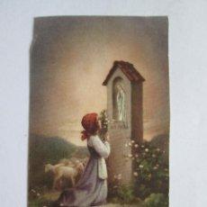 Postales: ESTAMPA RECORDATORIO COMUNION - 1959- MELILLA. Lote 143034226