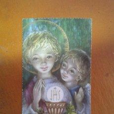 Postales: ESTAMPA RELIGIOSA - RECUERDO COMUNIÓN 1963. Lote 143106346