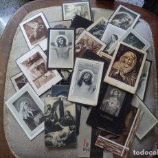 Postales: LOTE DE 34 RECORDATORIOS DE DEFUNCIÓN.. Lote 143214098
