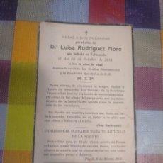 Postales: ESQUELA RECORDATORIO DEFUNCIÓN VALMASEDA BALMASEDA 1934. Lote 143372546