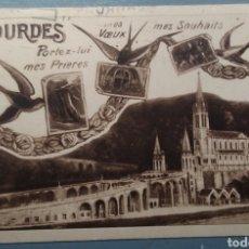 Postales: BONITA POSTAL FRANCIA LOURDES ESCRITA AÑO 1952. Lote 143542452
